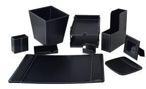 Desk Office Accessories by White Leather Desk Accessories Halflifetr Info