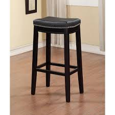 linon home decor claridge 30 in black cushioned bar stool