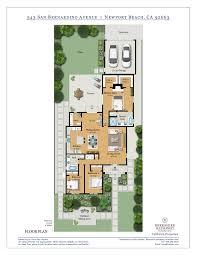 Bunkie Floor Plans by Remodeled Newport Beach Home Newport Heights