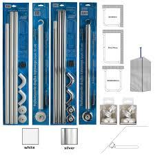u u0026l shape corner shower rail 3 way angled wall adapter ceiling