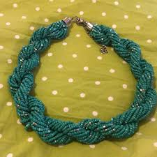 chunky bead necklace images H m jewelry teal chunky bead necklace poshmark jpg