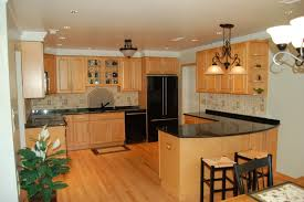 Maple Cabinet Kitchen Kitchen Backsplashes With Granite Countertops Kitchen Townhouse