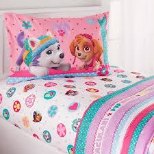twin bedding girl paw patrol girl best pup twin bedding sheet set walmart com