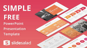 simple free powerpoint presentation template slidesalad youtube
