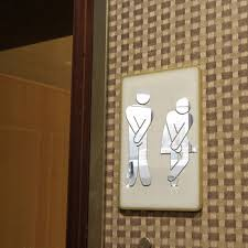 2pcs funny toilet entrance sign wall decals vinyl sticker for shop