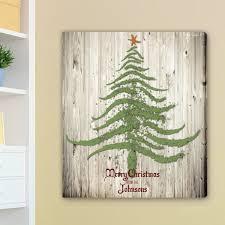 vintage christmas tree personalized vintage christmas tree canvas
