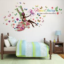 Colorful Butterfly Fairy Tale Flower Girl Princess Kids Room Decor - Butterfly kids room