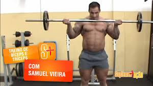 Famosos Samuel Vieira - Treino de Bíceps e Tríceps - YouTube &DM53