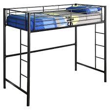 black metal twin loft bed with desk premium metal twin loft bed black saracina home target