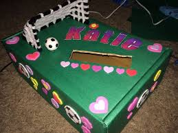 Valentine Decorated Boxes Ideas by Soccer Valentine Box 3rd Grade Contest I Did That My