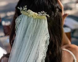 flower veil etsy