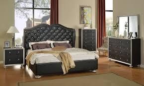 bedroom furniture los angeles glam black crystal tufted leather bed modern bedroom furniture