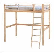 Ikea Double Loft Bed High Bunk Bed Solid Wood In Loughborough - Double loft bunk beds