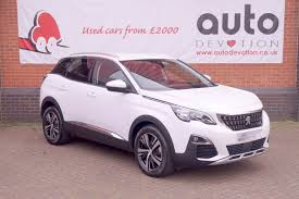 peugeot crossover used peugeot 3008 suv allure 1 6 bluehdi 120 s u0026s 5d for sale parkers
