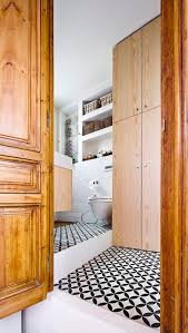 Interior Design Snazzy Main Wooden by Space Savvy Kitchen And Mezzanine In Small Barcelona Apartment