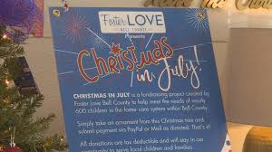 christmas in july fundraiser for foster children