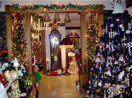 beautifully decorated homes homes decorated for christmas great home design references