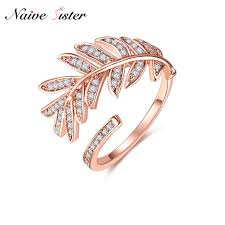 simple fashion rings images Fashion leaf adjustable rings for women rose gold color simple jpg