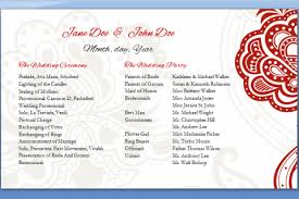 how to create wedding programs half page wedding program template wedding programs templates