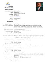 curriculum vitae for students template observation europass curriculum vitae europass cv format doc cover letter