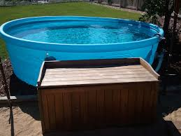stock tank as backyard doggie pool pool and patio pinterest