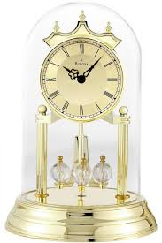 personalized anniversary clocks clockway bulova metal base brass anniversary clock gtb6432