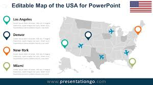Usa Map Png by Usa Editable Powerpoint Map Presentationgo Com