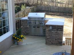 built in grill on wood deck deck and patio ideas pinterest