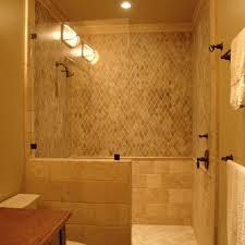Open Showers No Doors Simple Glass Panel Walk In Shower No Door Would Build The Half