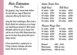 hairstyle price list hair extensions price list trendy hairstyles in the usa
