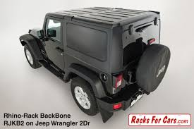 grey jeep wrangler 2 door rhino rack backbone and pioneer platforms edmonton alberta