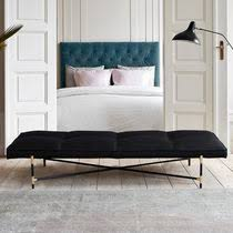 contemporary daybed fabric leather indoor black handvark