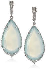 judith ripka earrings judith ripka arabesque sterling silver chalcedony