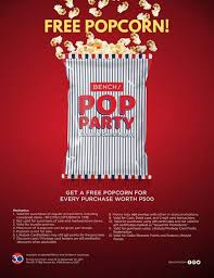 Bench Locations Popcorn Party With Bench Loopme Philippines