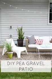 Installing Pea Gravel Patio How To Make A Diy Pea Gravel Patio Modern Chemistry At Home