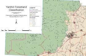 Oregon Counties Map by Forestland Classification U0026 Review Committee Yamhill County Oregon
