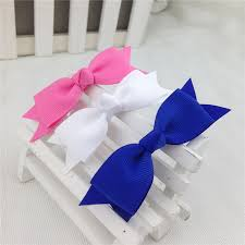 handmade bows handmade ribbon bows with clip solid color bows clip baby hair bow
