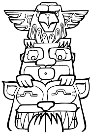 free printable totem pole coloring pages kids