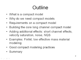 nanohub org resources basics of compact model development