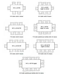 Dining Room Dimensions Dining Room Table Dimensions