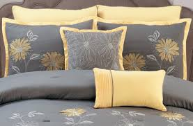 Amazon King Comforter Sets Amazon Com Yellow Grey Renee Comforter Set Sunflower Embroidery