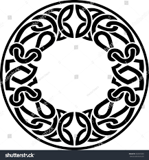 blank round ornamental celtic design stock vector 262629239