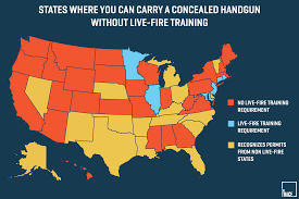 pa carry permit reciprocity map 26 states will let you carry a concealed gun without sure
