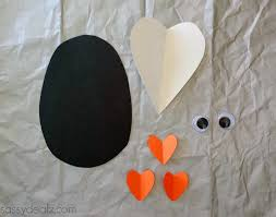 paper heart penguin craft for kids crafty morning