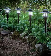 Solar Lighting For Gardens by Set Of 4 Solar Path Lights With Remote Solar Panel Solar Lighting