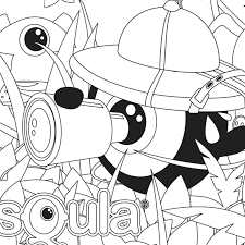 squla colouring pages puzzles children