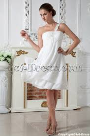 maternity wedding dresses cheap ivory simple one shoulder maternity wedding dress img 1969