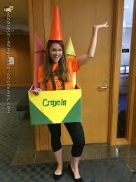 Crayon Costume Cool Out Of The Box Homemade Crayon Costume Idea Crayons