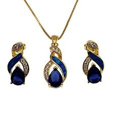 sapphire necklace earrings images Hermosa jewelry sets australian opal blue sapphire jpg