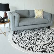 buy cream u0026 black pattern pure wool round rugs at staunton and henry
